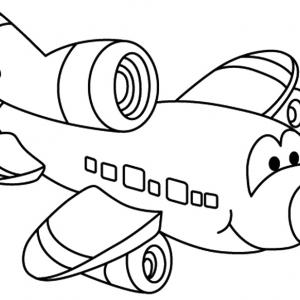 Avion 03 - motif à imprimer