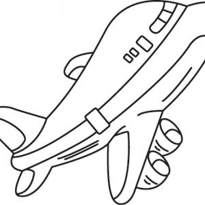 Coloriage Avion A Imprimer.Avion Dessin Coloriage Avion Avec Tete A Modeler
