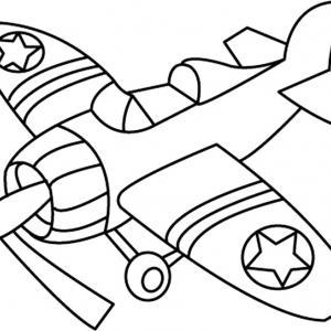 Avion 07 - motif à imprimer