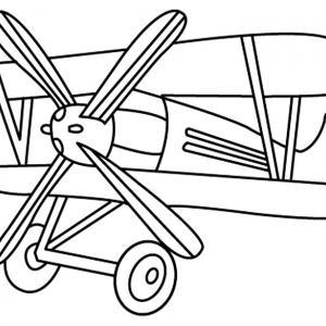 Avion 08 - motif à imprimer