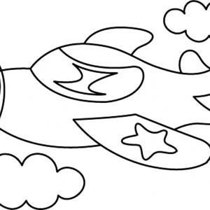 Avion 10 - motif à imprimer