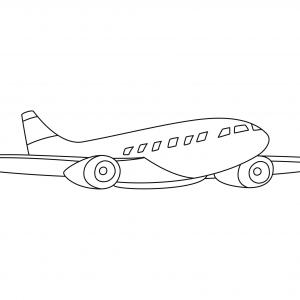 Avion 14 - motif à imprimer
