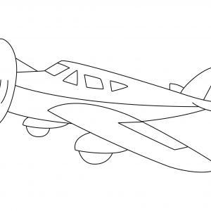 Avion 15 - motif à imprimer