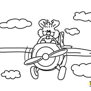 Avion 16 - motif à imprimer
