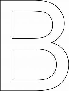 B majuscule - motif à imprimer