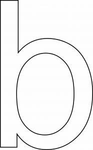 b minuscule - motif à imprimer