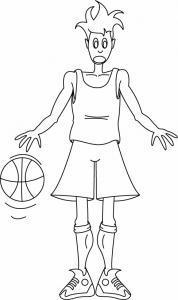 Basketteur 01 - motif à imprimer