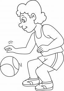 Basketteur 02 - motif à imprimer