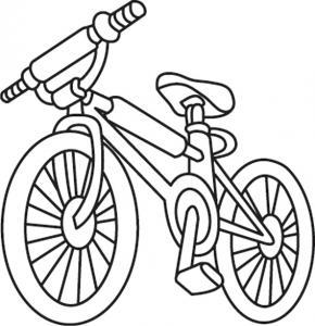 Bicyclette 01 - motif à imprimer