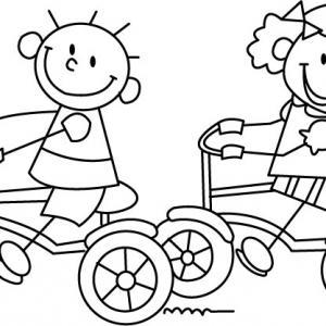 Bicyclette 02 - motif à imprimer