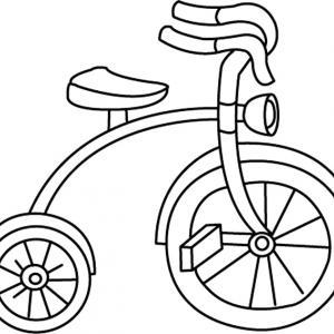 Bicyclette 03 - motif à imprimer