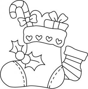 Bottes de Noël 01 - motif à imprimer