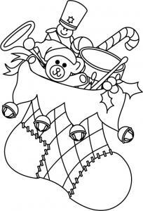 Bottes de Noël 03 - motif à imprimer