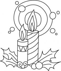 Bougies 01 - motif à imprimer