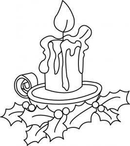 Bougies 03 - motif à imprimer
