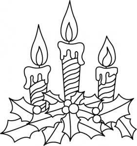 Bougies 10 - motif à imprimer