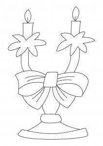 Bougies 12 - motif à imprimer