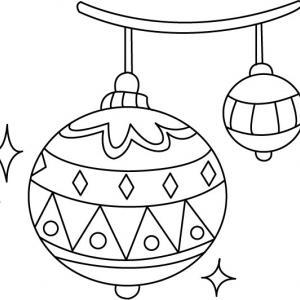 Boules de Noël 01 - motif à imprimer