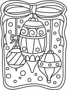 Boules de Noël 02 - motif à imprimer