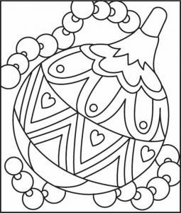 Boules de Noël 03 - motif à imprimer