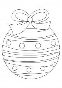 Boules de Noël 06 - motif à imprimer