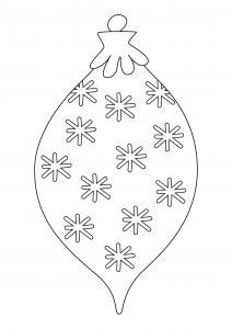 Boules de Noël 07 - motif à imprimer