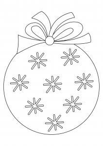Boules de Noël 08 - motif à imprimer