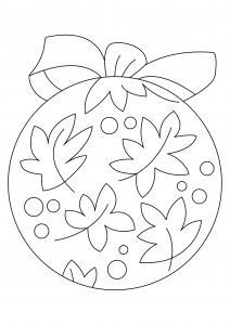 Boules de Noël 10 - motif à imprimer
