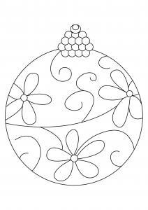 Boules de Noël 11 - motif à imprimer