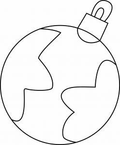 Boules de Noël 13 - motif à imprimer