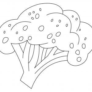 Brocolis 01 - motif à imprimer