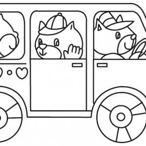 Bus 01 - motif à imprimer