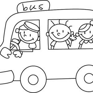 Bus 02 - motif à imprimer
