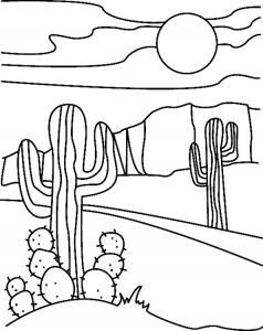 Cactus 01 - motif à imprimer