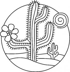 Cactus 02 - motif à imprimer