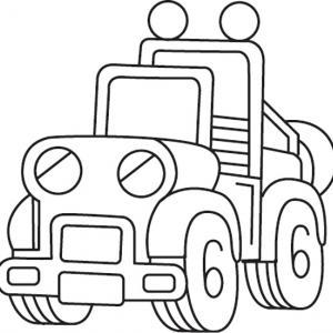 Camion 03 - motif à imprimer