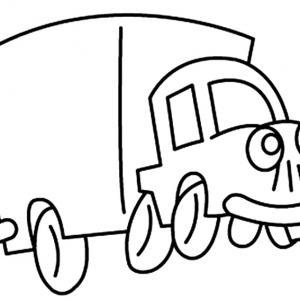 Camion 05 - motif à imprimer