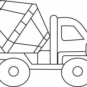 Camion 07 - motif à imprimer