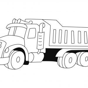 Camion 08 - motif à imprimer