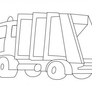 Camion 10 - motif à imprimer