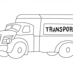 Camionnette 01 - motif à imprimer