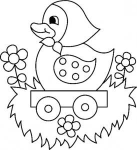 Le dessin canard dans son chariot est un joli coloriage canard. Un dessin aux traits épais, adaptés aux plus petits et facilement utilisable comme motif à reporter sur tous vos supports. Retrouvez des centaines d'autres coloriages de lapins à imprimer gra