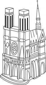 Cathédrale - motif à imprimer