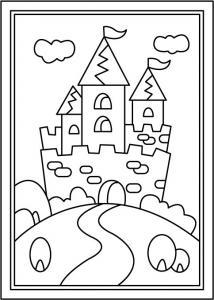 Chateau 1 - motif à imprimer