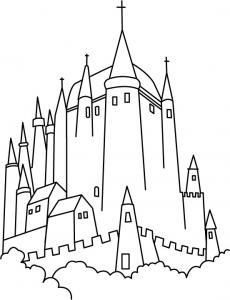 Chateau 2 - motif à imprimer