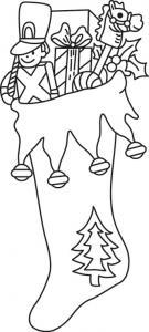 Chaussette 01 - motif à imprimer