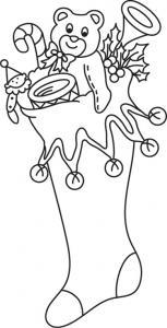 Chaussette 02 - motif à imprimer