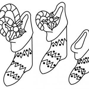 Chaussette 03 - motif à imprimer