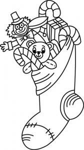 Chaussette 08 - motif à imprimer