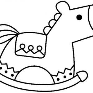 Cheval à bascule 03 - motif à imprimer